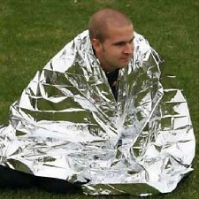 Rescue Mylar Thermal Blanket Wrap Keep Warm Outdoor Emergency Survival Gear Tool