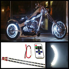 "2x 12"" White 12 SMD LED motorcycle LED strips with flashing effects controller"