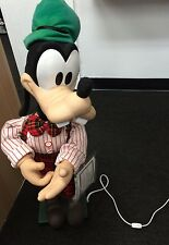 """Disney GOOFY Tangled in Lights 30"""" Animated Xmas Fig Motionette Musical 1995"""