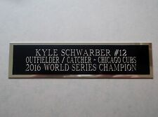 Kyle Schwarber Cubs Engraved Nameplate For A Baseball Bat Display Case 1.5 x 6