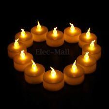 12Pcs Romantique Bougies à LED électronique Jaune Fete Anniversaire Mariage Déco