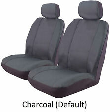 PAIR WATERPROOF COTTON CANVAS CAR SEAT COVERS TO SUIT SUBARU BRUMBY