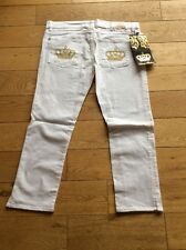 Brand New With Tags Victoria Beckham White Cropped Designer Jeans Size 29
