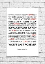 Kodaline - Love Like This - Song Lyric Art Poster - A4 Size