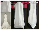 White Breathable Wedding Gown Prom Dress Garment Bag Extra Long