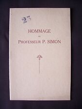 Hommage au professeur P. Simon