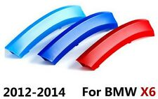 3D 3 Colours Kidney Grille Plastic Cover Strips Clips BMW X6 E71 2012-2014