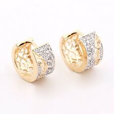 18K gold filled Swarovski crystal lady exquisite fashion hoop earrings jewelry
