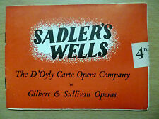 1949 Sadler's Wells Theatre Opera Programme- The Mikado/Town of Titipu, 18 June