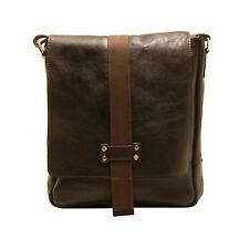 ASHWOOD - BROWN A4 SLIGO MESSENGER BAG IN NATURAL COW TUMBLE LEATHER