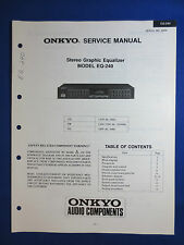 ONKYO EQ-240 EQUALIZER EQ SERVICE MANUAL ORIGINAL FACTORY ISSUE