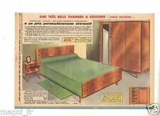 Publicité 1963 - Chambre à coucher