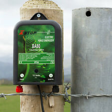 PREMIUM ELECTRIC FENCE ENERGISER UNIT 10km 12v BATTERY **1 YEAR WARRANTY** BA80