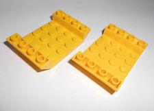 Lego (30283) 2 Schrägsteine 4x6x1 invers, in gelb aus 7894 7775 3368 7776 7774