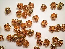 24 Goldplated 9mm Rose Findings