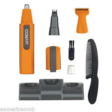 9pc Conair Personal Grooming Kit Nose Ear Hair Trimmer Goatee Sideburns  NE163CS