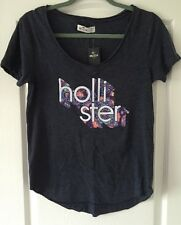 HOLLISTER Girls T Shirt BNWT Size S - Easy Fit Festival Top