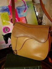 RARE Vintage GUCCI Equestrian Purse SADDLE  KELLY Handbag Purse Bag Accessory GG