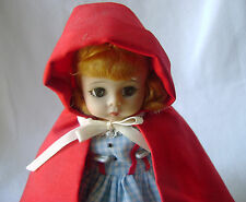 """An 8"""" Bent-knee Madame Alexander Little Red Riding Hood - Never played With"""
