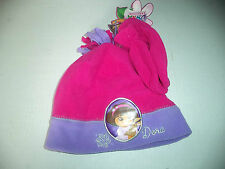 Dora The Explorer Matching Set Of Fleece Pink Mittens And Pink And Purple Hat