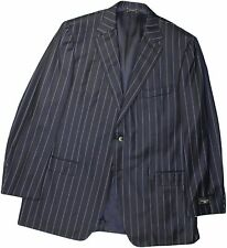 ERMENEGILDO ZEGNA TROFEO COUTURE MEN'S NAVY STRIPE SUIT-56/46R US-SWITZERLAND