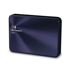 WD Western Digital 2TB My Passport Ultra Metal External Hard Disk Drives Blue