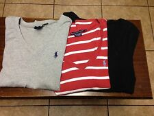 women's Lot of s/s Ralph Lauren Polo t- shirts size L, red, gray, black
