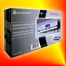 SOUNDMASTER UR 2006 PLL UKW Funk-Küchenradio Timer Unterbauradio Senderspeicher