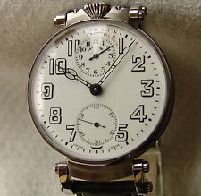 ZENITH ALARM COMPLICATION VINTAGE POCKET WATCH MOVEMENT  pre-1920 PORCELAIN DIAL