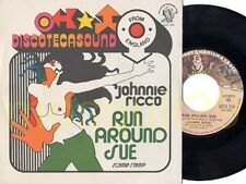 "JOHNNIE RICCO ""RUN AROUND SUE"" RARE 45RPM ITALY - SEXY COVER"