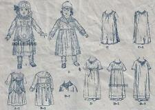 "VINTAGE 18"" ANTIQUE DOLL CLOTHES PATTERN 404"