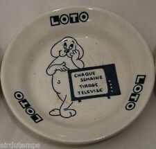 CENDRIER de BISTROT PUBLICITAIRE ASHTRAY ADVERTISING LOTO GIEN