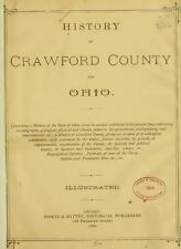 1881 CRAWFORD County Ohio OH, History and Genealogy Ancestry Family Tree DVD B14