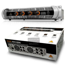Behringer NU46000 4-Channel DJ Power Amplifier 6000 Watts NU4-6000 OPEN BOX
