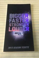 2013 Seattle Seahawks Season Ticket Stubs UNTORN, From their CHAMPIONSHIP SEASON
