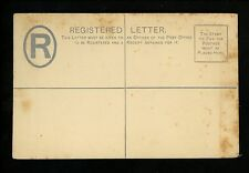 Postal Stationery H&G #C2b Malta registered envelope 1887 Vintage