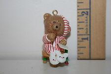 Carlton Cards Ornament - Santa's Roommate - Teddy Bear - 1st in Series - 1990