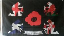 new design lest we forget 5x3 flag england scotland wales northern ireland  army