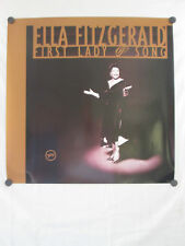 """ELLA FITZGERALD THE FIRST LADY OF SONG ORIGINAL ALBUM PROMO POSTER 24"""" X 24"""""""