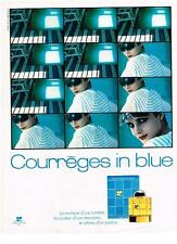 PUBLICITE ADVERTISING   1982   Courrèges  IN BLUE     parfums