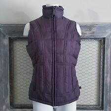 Woolrich Purple Vest Jacket S Small Winter Coat Padded Fleece Lined Womens