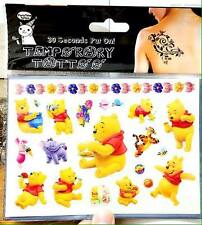 Lot of 2 Sheets of Winnie the Pooh Temporary Tattoos - For Party Prizes