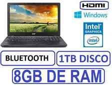 PORTATIL ACER INTEL 8GB RAM 1 TB grafica 1756mb WINDOWS