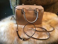 NWT Coach F57521 Mini Bennett Satchel In Crossgrain Leather In Beechwood