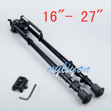 "Hunting 16""- 27"" Bipod Spring Return Legs With Adapter For Rifle Hunting"