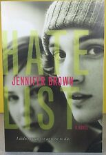 HATE LIST   -Jennifer Brown-    PAPERBACK  ~ NEW