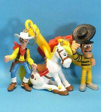 3 Lucky Luke Figuren keyholder William Dalton Sträfling + LL + Jolly Jumper