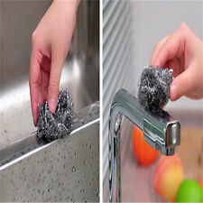 6 PCS Stainless steel scrubbing brush wire wool pot cleaner scrubber scouring YC