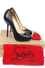 CHRISTIAN LOUBOUTIN Big Stack 120 leather pumps 36.5 UK 3.5
