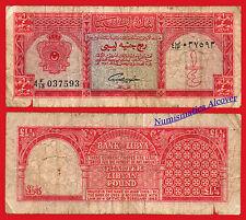 LIBIA LIBYA 1/4 Libyan pound 1963 Pick 28 RC  /  G